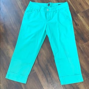 Jag Jeans Slim Fit Cuffed Capri Pants